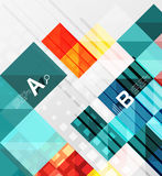 Modern geometrical abstract background, squares Stock Photo