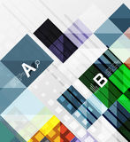 Modern geometrical abstract background, squares. With infographics sample text Royalty Free Stock Photography