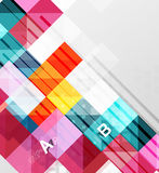 Modern geometrical abstract background, squares. With infographics sample text stock illustration