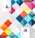 Modern geometrical abstract background, squares vector illustration
