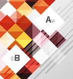 Modern geometrical abstract background, squares Royalty Free Stock Photo