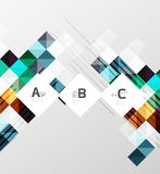 Modern geometrical abstract background, squares. With infographics sample text Stock Images