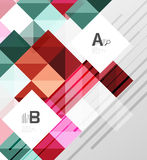 Modern geometrical abstract background, squares. With infographics sample text Stock Photography