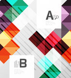 Modern geometrical abstract background, squares. With infographics sample text Royalty Free Stock Images