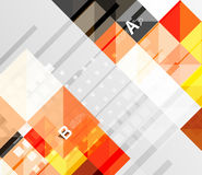 Modern geometrical abstract background, squares Stock Images