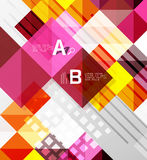 Modern geometrical abstract background, squares. With infographics sample text Stock Photo