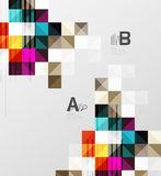 Modern geometrical abstract background, squares Royalty Free Stock Photography