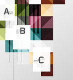 Modern geometrical abstract background, squares. With infographics sample text Royalty Free Stock Image