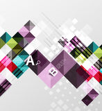 Modern geometrical abstract background, squares. With infographics sample text Royalty Free Stock Photo