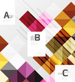 Modern geometrical abstract background, squares Royalty Free Stock Images