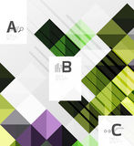 Modern geometrical abstract background, squares Stock Image