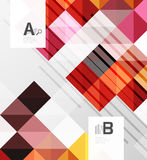 Modern geometrical abstract background, squares. With infographics sample text Stock Photos