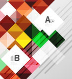 Modern geometrical abstract background, squares. With infographics sample text royalty free illustration