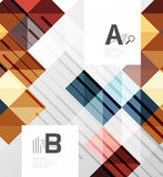 Modern geometrical abstract background, squares. With infographics sample text Vector Illustration