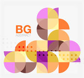 Modern geometrical abstract background Royalty Free Stock Image