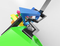 Modern geometrical abstract 3d template. Concept Royalty Free Stock Image