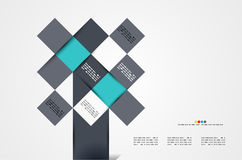 Modern geometrical abstract template Stock Photos