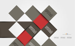 Modern geometrical abstract template Stock Image