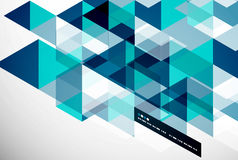 Modern geometrical abstract template Royalty Free Stock Photo