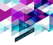 Modern geometrical abstract template stock illustration