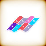Modern geometrical banner design template Royalty Free Stock Photo