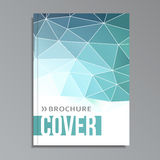 Modern geometrical cover template, polygonal design,  Royalty Free Stock Photography