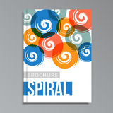 Modern geometrical cover template with spirals,  Stock Photography
