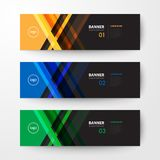 Banners web design template abstract  background. Modern geometrics banners web design template abstract  background elements, Business presentation Stock Photography