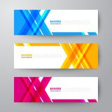 Banners web design template abstract  background. Modern geometrics banners web design template abstract  background elements, Business presentation Royalty Free Stock Photo