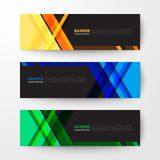 Banners web design template abstract  background. Modern geometrics banners web design template abstract  background elements, Business presentation Stock Image