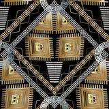 Modern geometrisch Grieks zeer belangrijk naadloos patroon vector illustratie