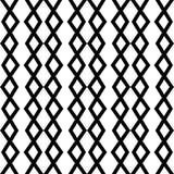 Modern geometrisch naadloos patroon met zigzaglijnen, chevron, kettingen Stammenmotief Modieus grafisch ontwerp stock illustratie