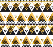 Modern geometry American indian tribal seamless pattern. Stock Images