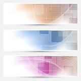 Modern geometry business cards collection Royalty Free Stock Image