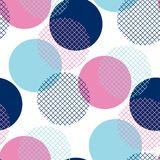 Modern geometry pink and blue polka dot seamless pattern. Vector illustration for background, decoration, surface design Stock Photo
