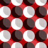 Modern geometry polka dot seamless pattern. Vector illustration for background, decoration, surface design Stock Images