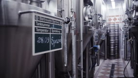 Modern German brewery laboratory production stock video footage