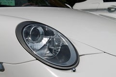 Modern german sports car headlamp Stock Photo