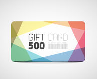 Modern gift card template Stock Image