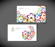 Modern gift card templates Stock Image