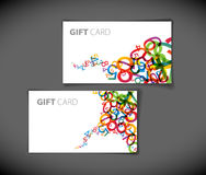 Modern gift card templates Stock Images