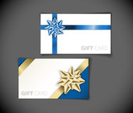 Modern gift card templates. Set of modern gift card templates Royalty Free Stock Photos