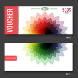 Modern Gift Voucher Template. Royalty Free Stock Photo