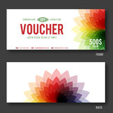 Modern Gift Voucher Template. Royalty Free Stock Photos