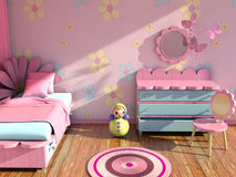 Modern girl's room Stock Images