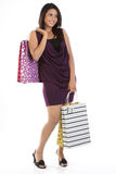 Modern girl with shopping bags Royalty Free Stock Photo