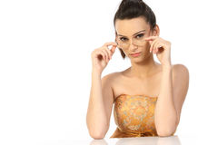 Modern girl with specs Stock Photo