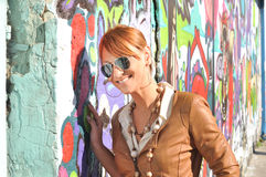 Modern girl with sunglasses Stock Photography