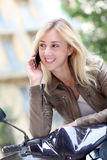 Modern girl using mobile phone Stock Photos