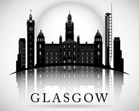 Modern Glasgow City Skyline Design. Scotland Stock Images